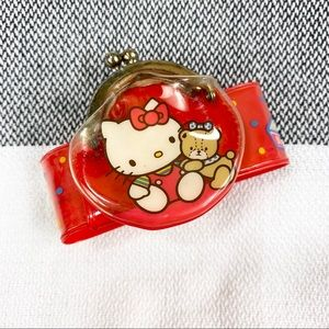 Vintage 80s Hello Kitty Wrist Coin Purse Pouch